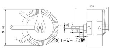 BBC1-W无底盘型旋臂式变阻器